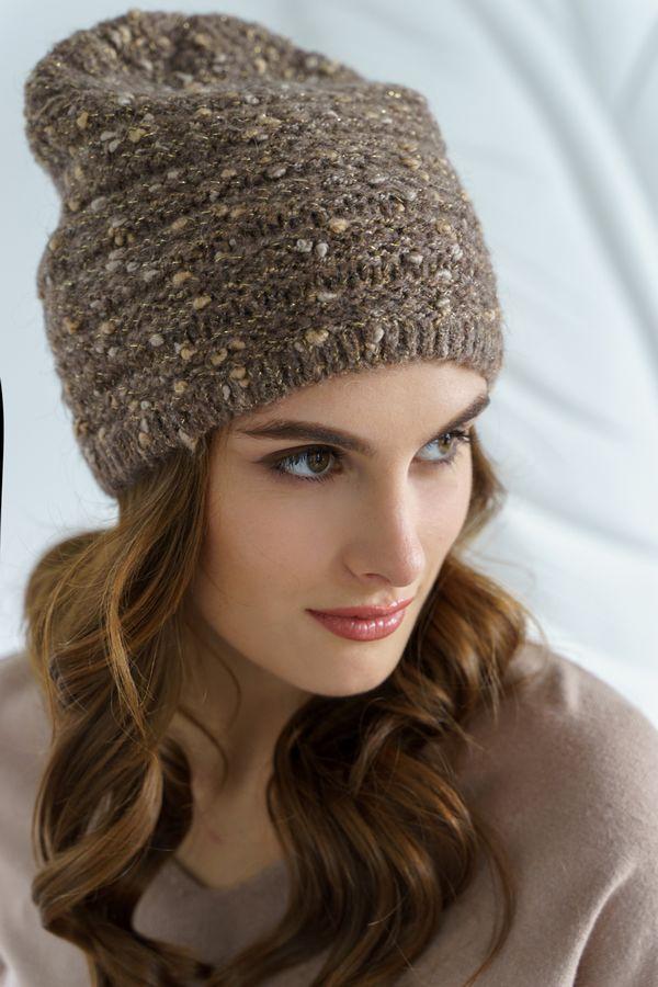Шапка женская Mira Adriana 7.598-5 коричневая меланж - фото 1