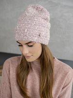 Шапка женская Mira Adriana 7.598-6 розовая меланж