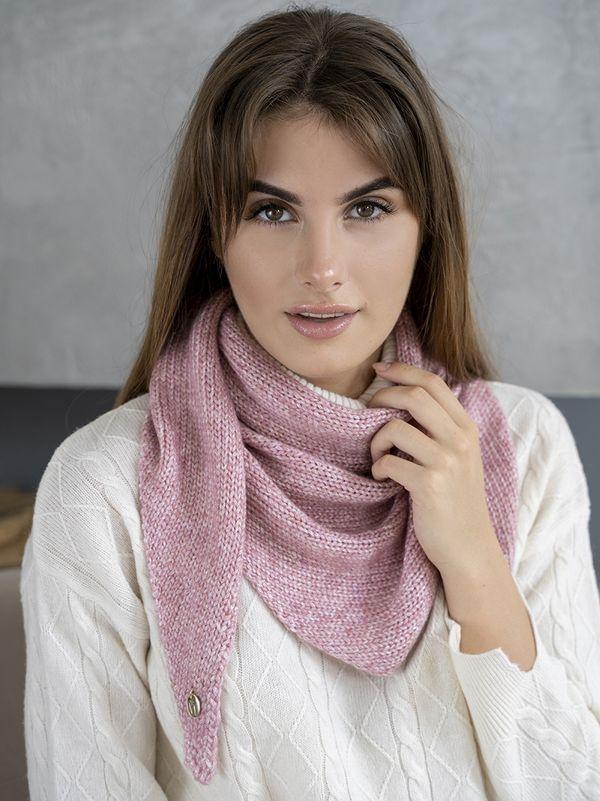 Косынка женская Mira Adriana 8.714-1 розовая - фото 1