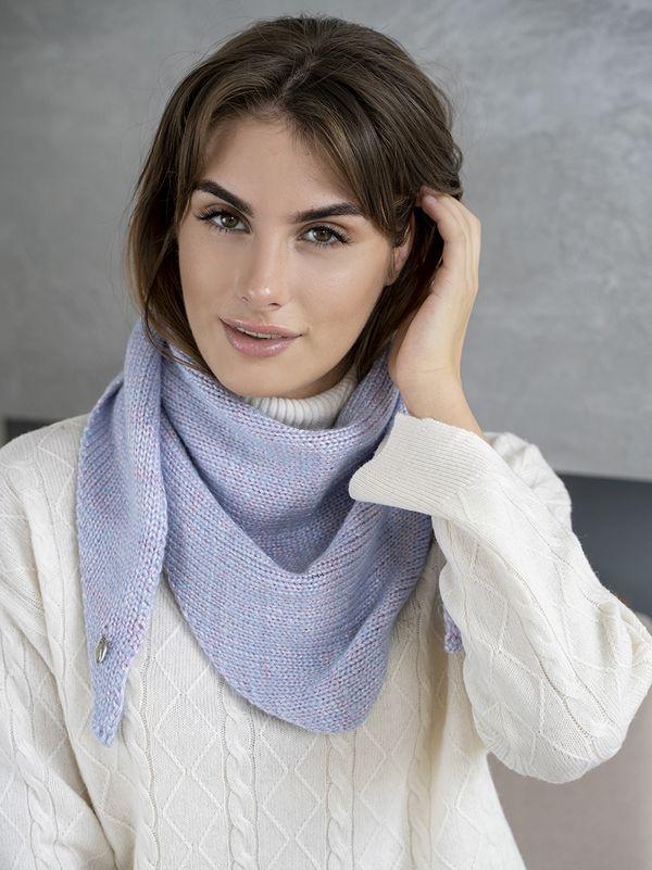 Косынка женская Mira Adriana 8.714-3 голубая - фото 1