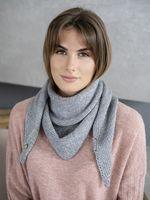 Косынка женская Mira Adriana 8.714-4 серо-голубая