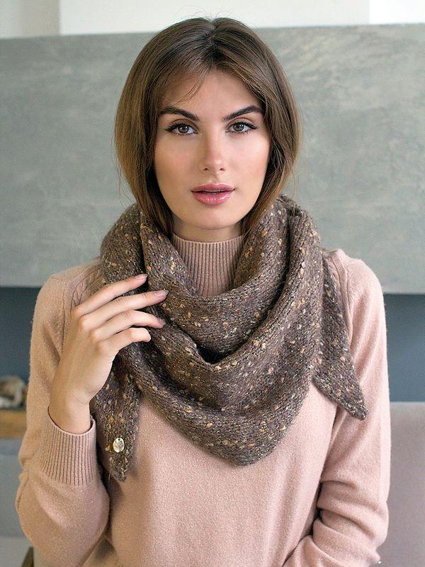 Косынка женская Mira Adriana 8.716-5 коричневая меланж - фото 1
