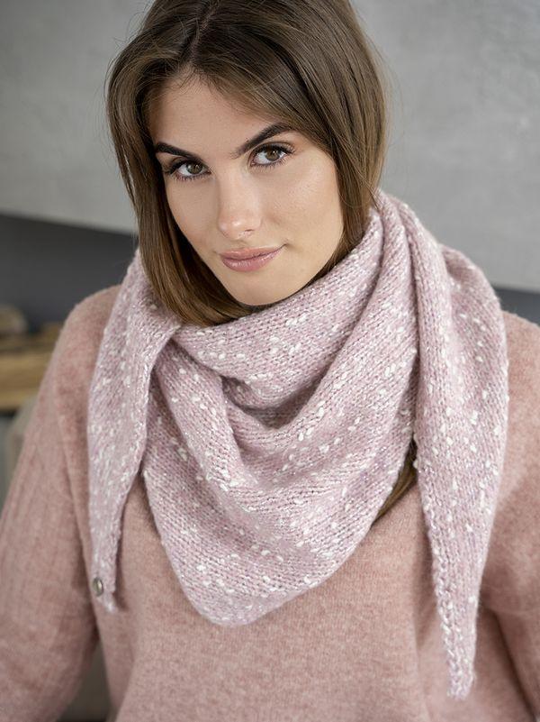 Косынка женская Mira Adriana 8.716-6 розовая меланж - фото 1
