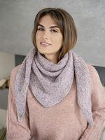 Косынка женская Mira Adriana 8.716-7 розовая/серая меланж
