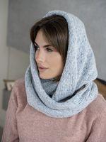 Снуд женский Mira Adriana 8.717-2 голубой меланж