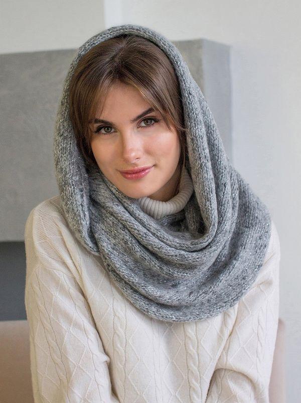 Снуд женский Mira Adriana 8.717-3 серый меланж - фото 1