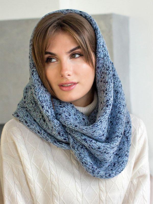 Снуд женский Mira Adriana 8.717-4 синий/голубой меланж - фото 1