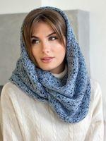 Снуд женский Mira Adriana 8.717-4 синий/голубой меланж