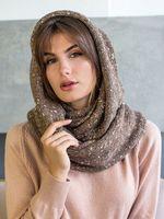 Снуд женский Mira Adriana 8.717-5 коричневый меланж