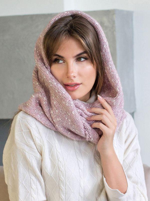 Снуд женский Mira Adriana 8.717-6 розовый меланж - фото 1