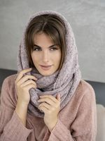 Снуд женский Mira Adriana 8.717-7 розовый/серый меланж