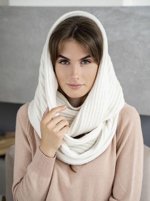 Снуд женский Mira Adriana 8.726-1 белый - фото 1