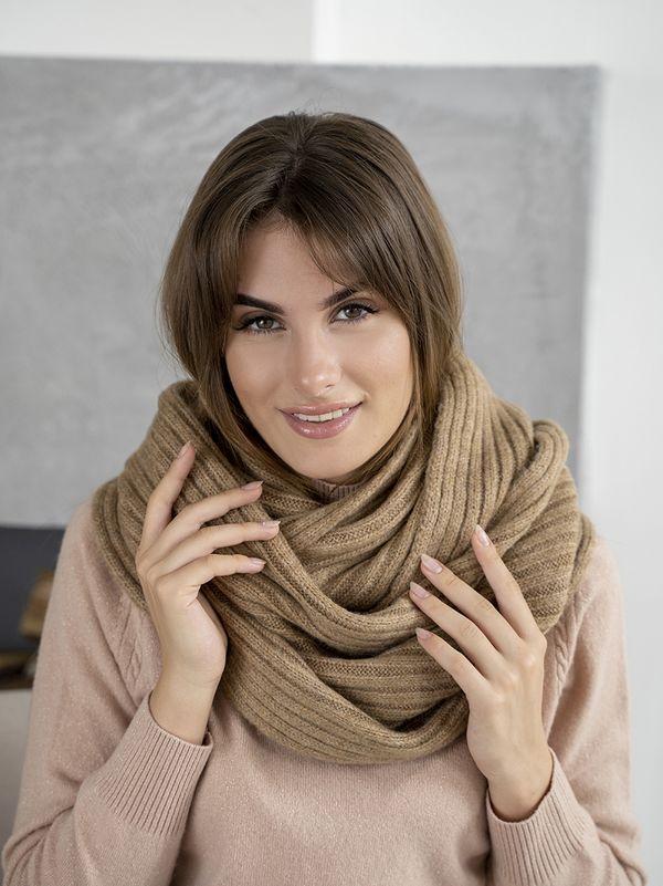 Снуд женский Mira Adriana 8.726-3 коричневый - фото 1