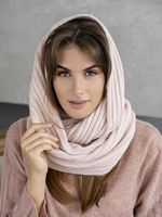Снуд женский Mira Adriana 8.726-4 пудровый