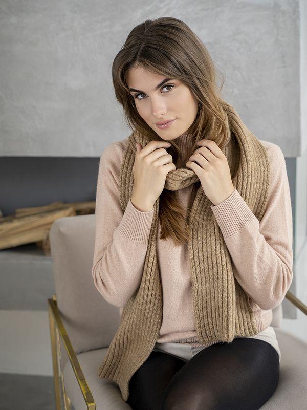 Шарф женский Mira Adriana 8.725-3 коричневый - фото 1