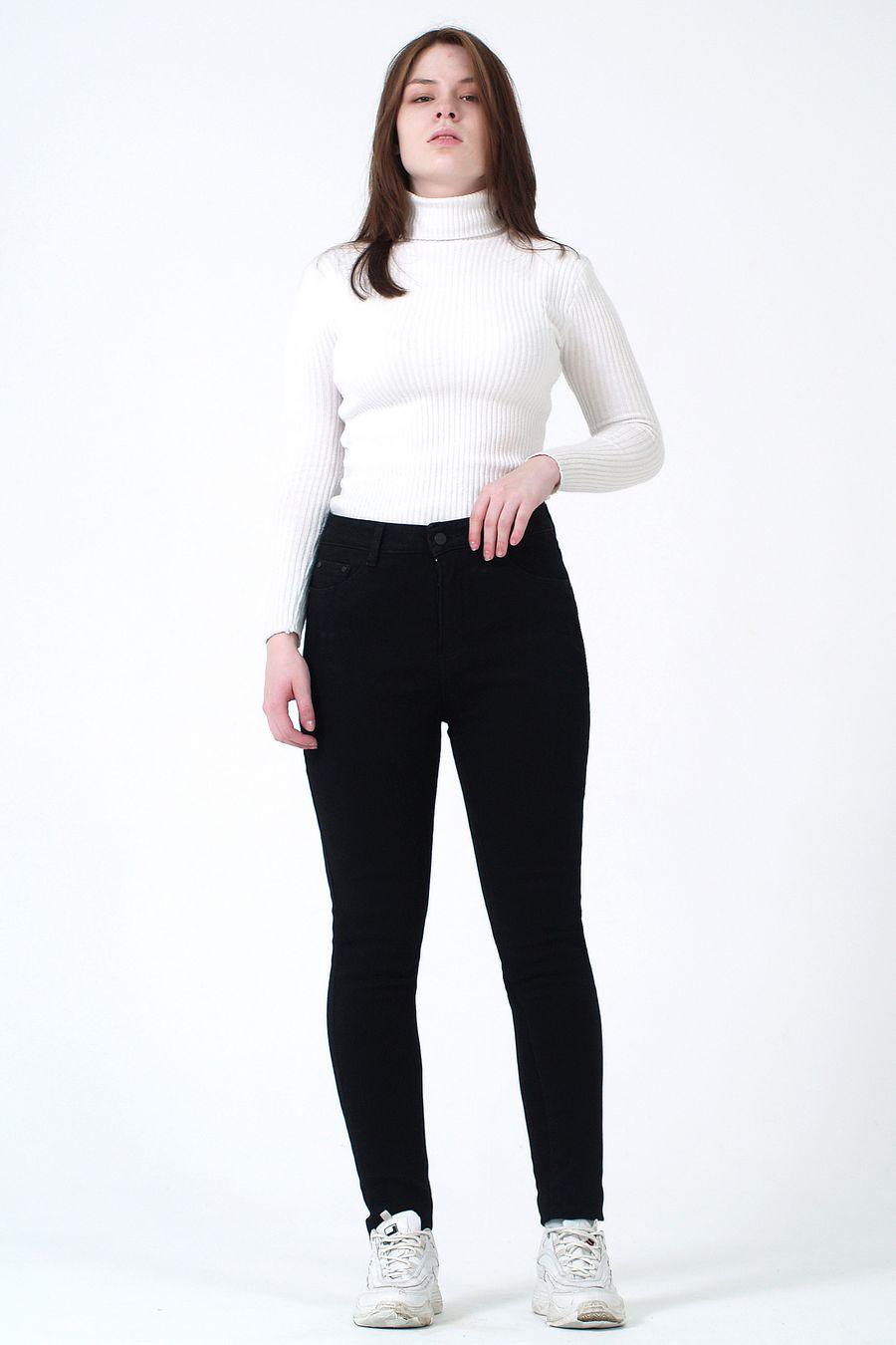 Джинсы женские K.Y Jeans F2237 утепленные - фото 1