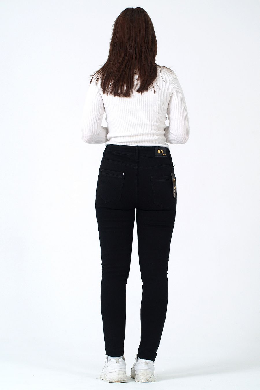 Джинсы женские K.Y Jeans F2237 утепленные - фото 2