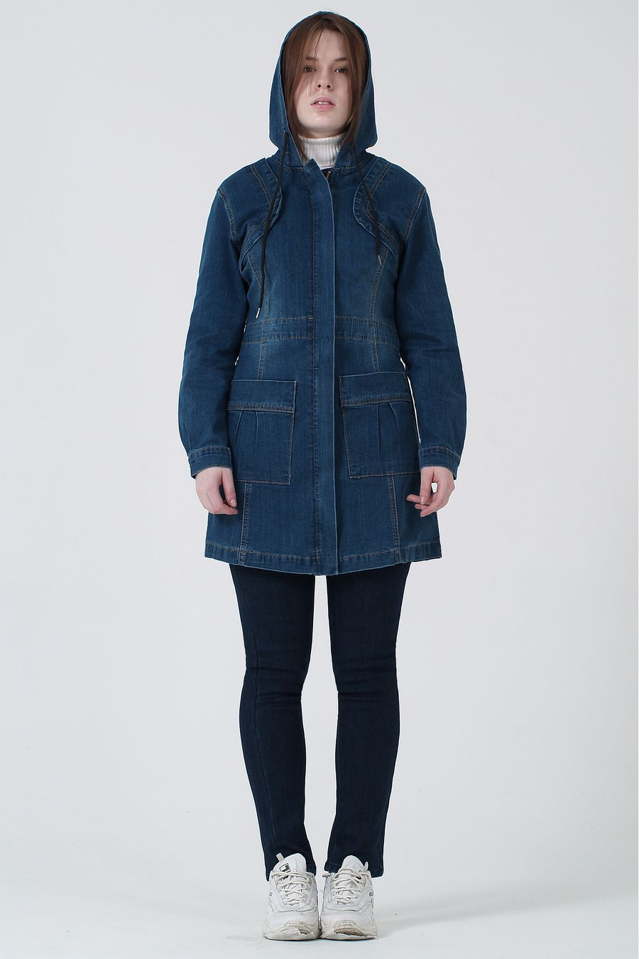 Пиджак женский (джинсовка) K.Y Jeans 901 - фото 2