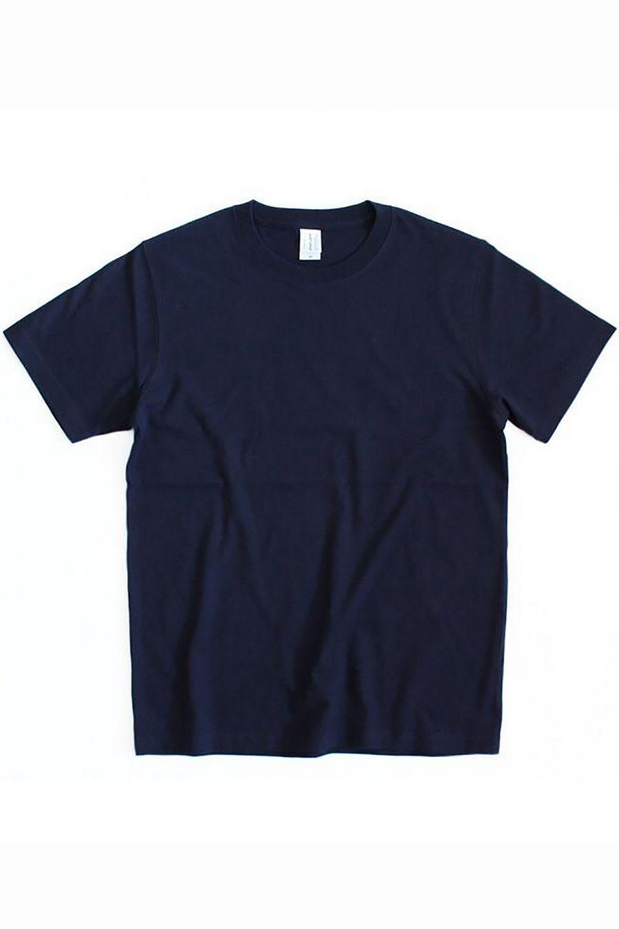 Футболка мужская к/р однотонная т.синяя - фото 1
