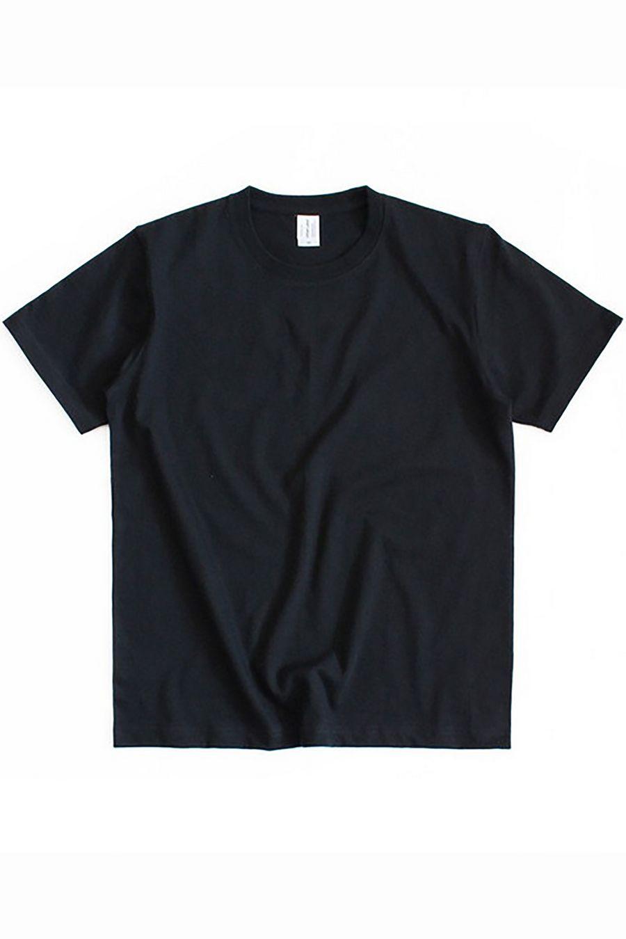 Футболка мужская к/р однотонная черная - фото 1