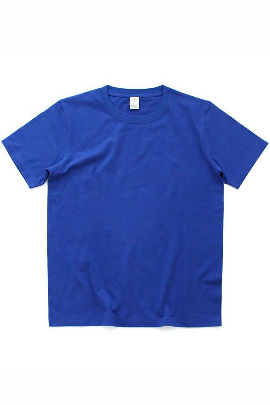 Футболка мужская к/р однотонная синяя - фото 1