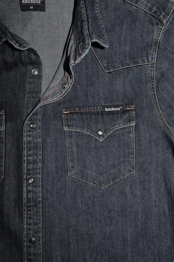 Рубашка мужская Koutons 1997 Talin Black 02 - фото 3
