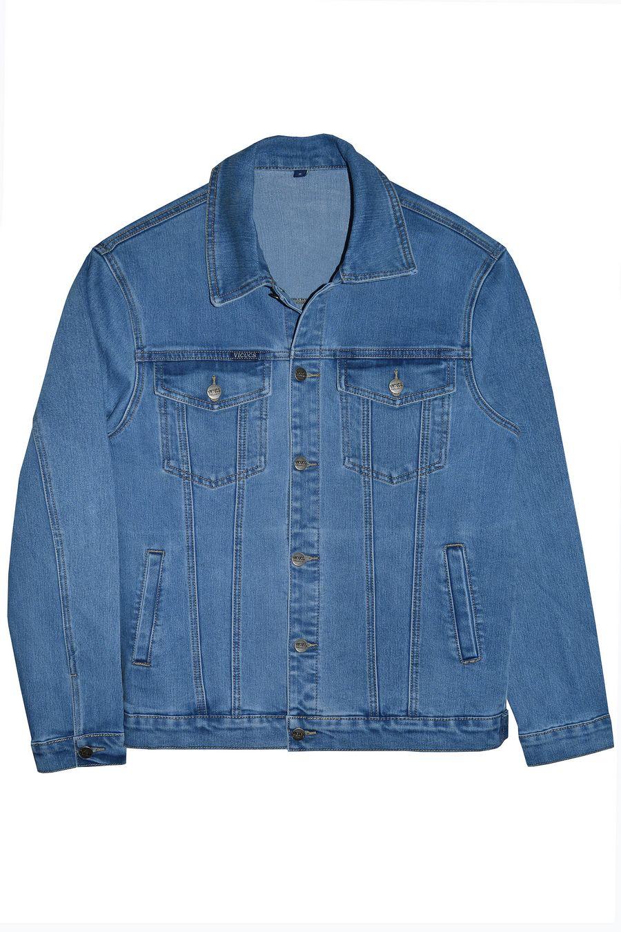 Пиджак мужской (джинсовка) Vicucs 728E.870-10-1 (XL-5XL) - фото 1