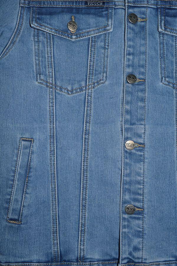 Пиджак мужской (джинсовка) Vicucs 728E.870-10-1 (XL-5XL) - фото 2