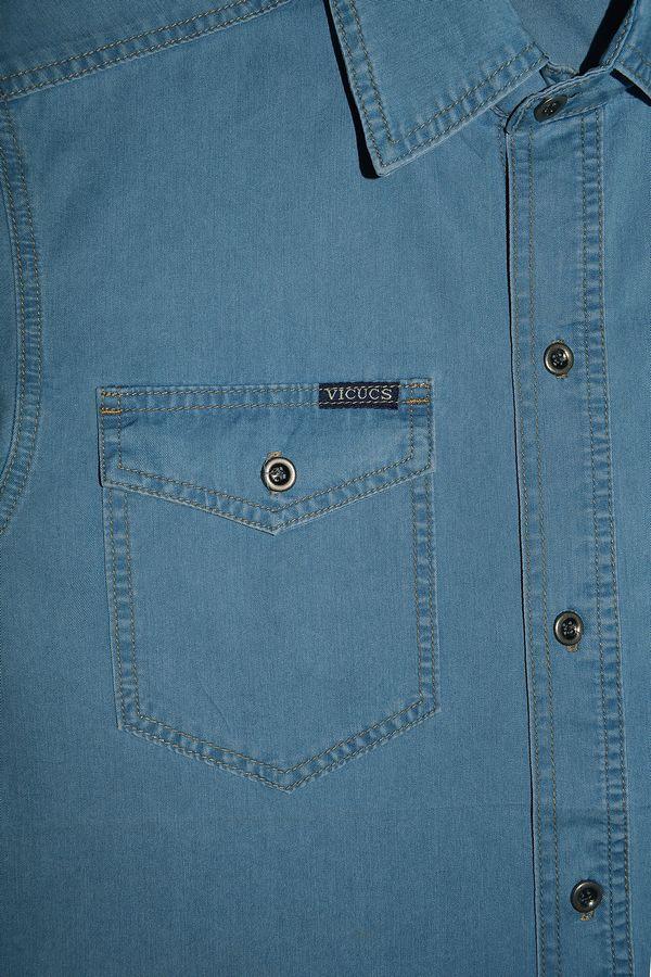 Рубашка мужская Vicucs 728E/CT-321-21 (XL-5XL) - фото 3
