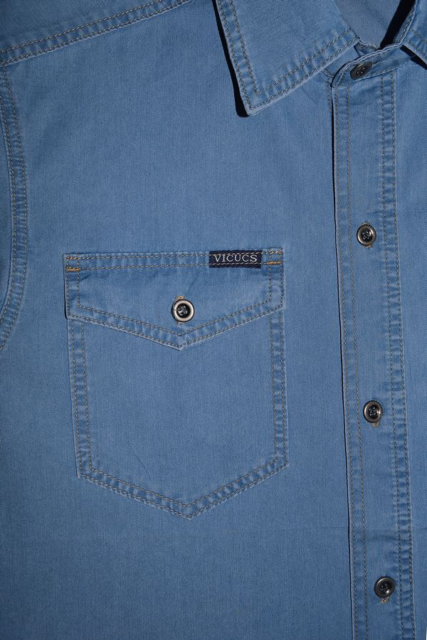 Рубашка мужская Vicucs 728E/CT-321-20 (XL-5XL) - фото 3