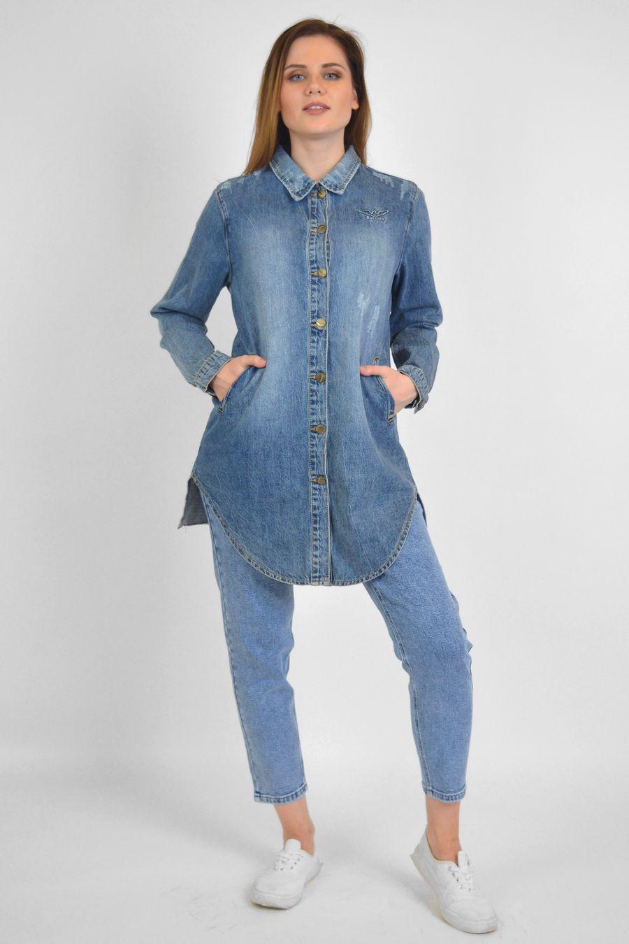 Рубашка женская Baccino 6081 джинсовая - фото 2