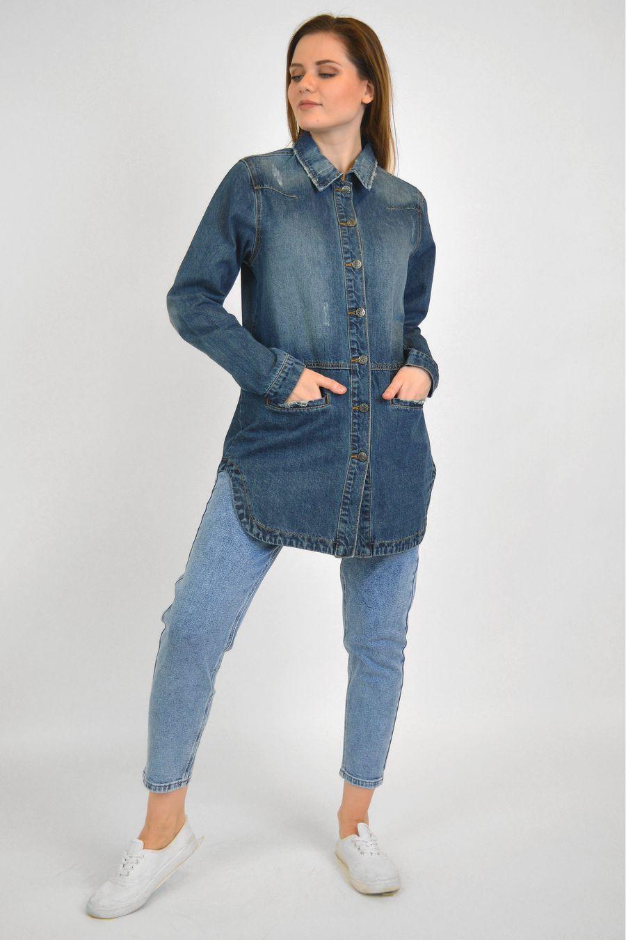 Рубашка женская Baccino 6093 джинсовая - фото 1