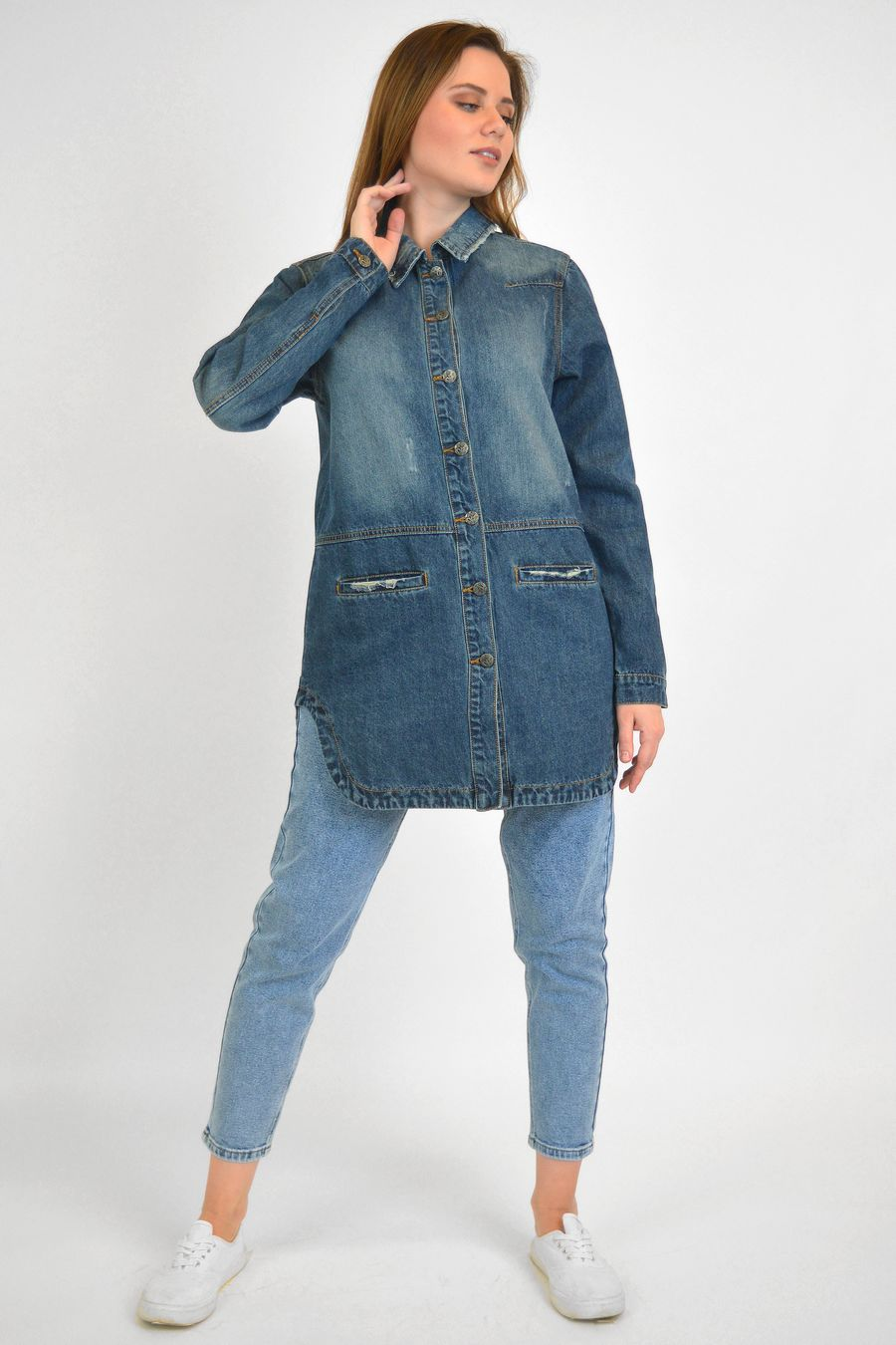 Рубашка женская Baccino 6093 джинсовая - фото 2
