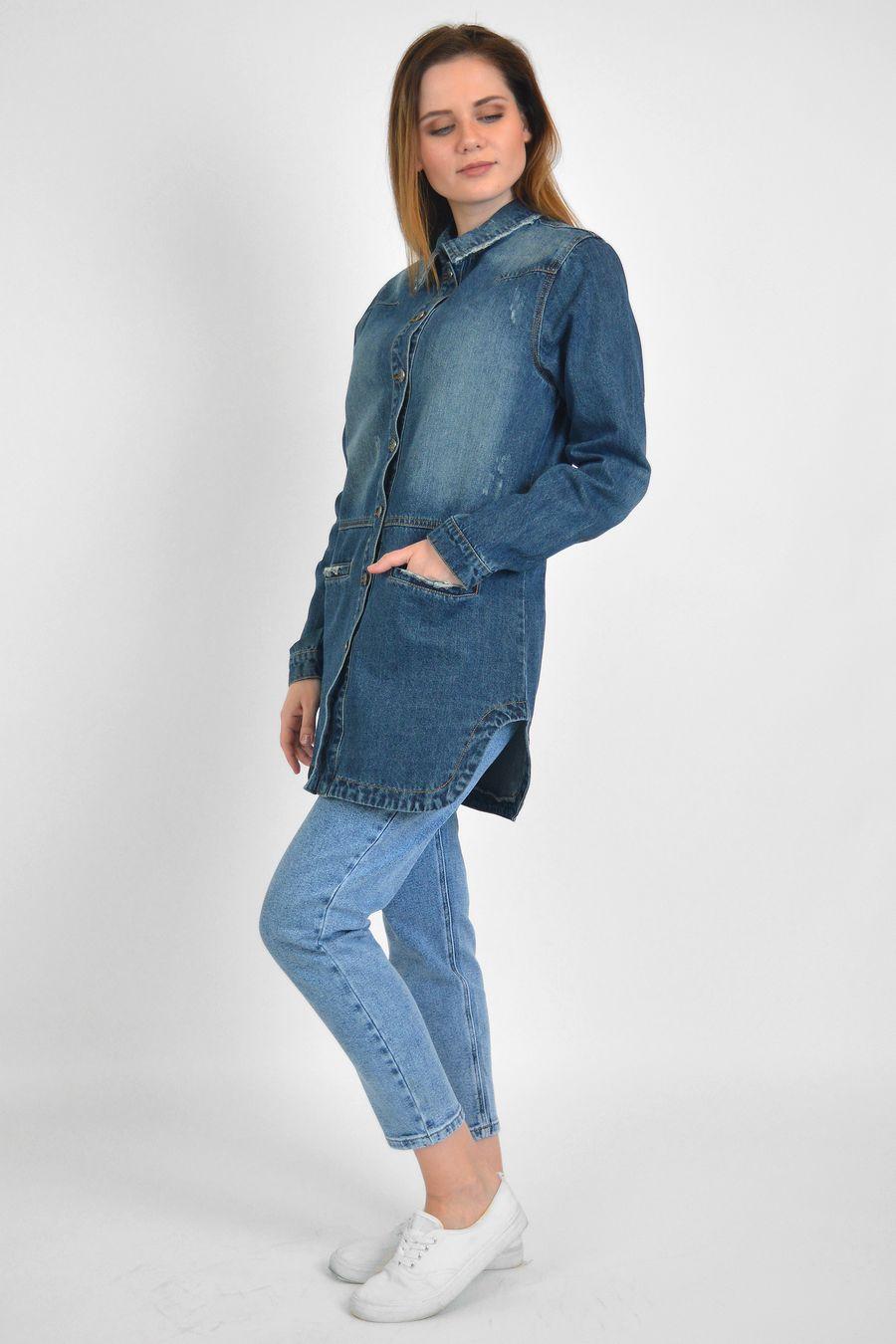 Рубашка женская Baccino 6093 джинсовая - фото 3