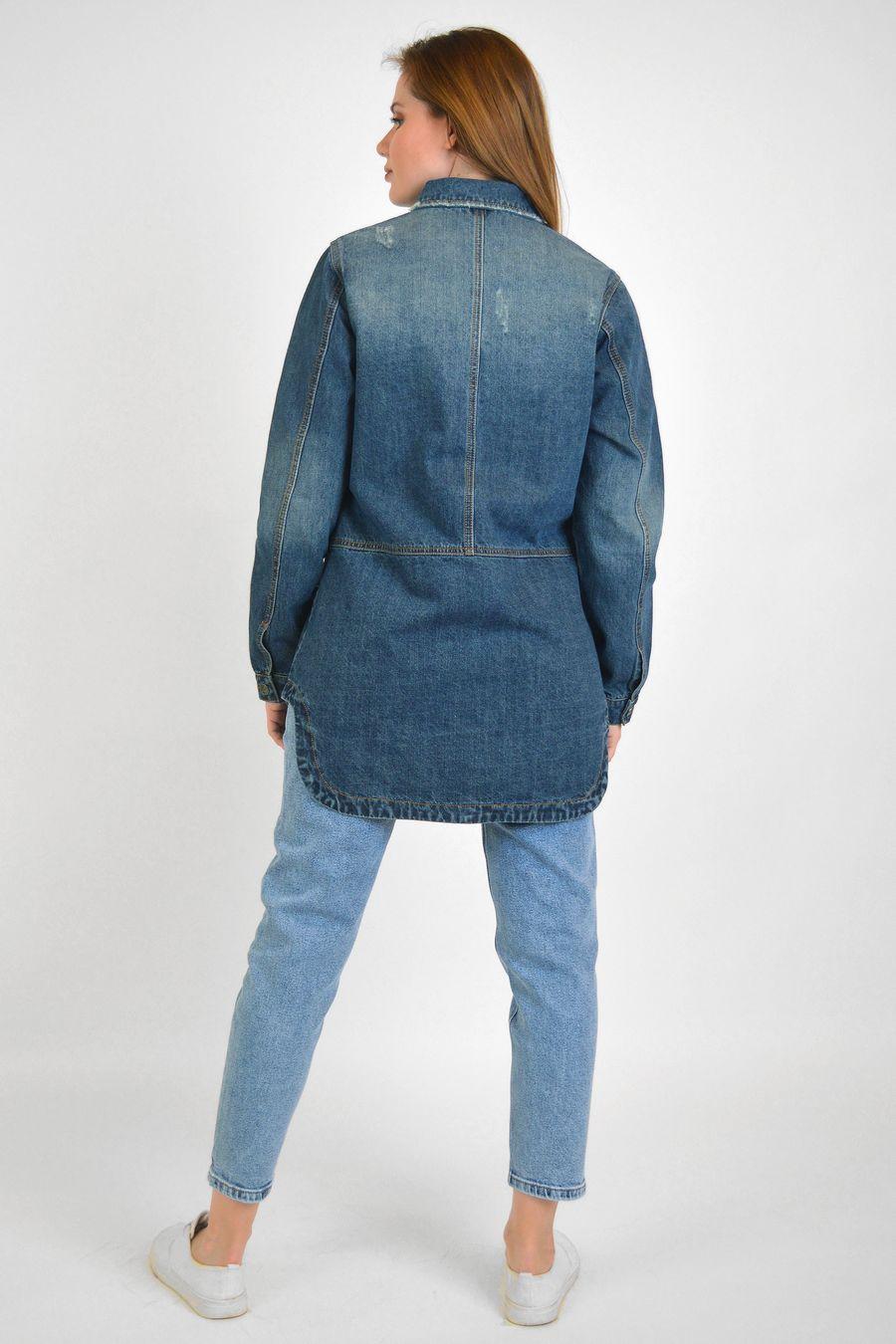 Рубашка женская Baccino 6093 джинсовая - фото 4
