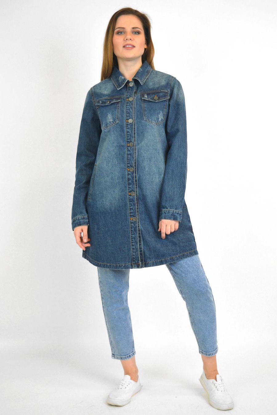 Рубашка женская Baccino 6099 джинсовая - фото 2
