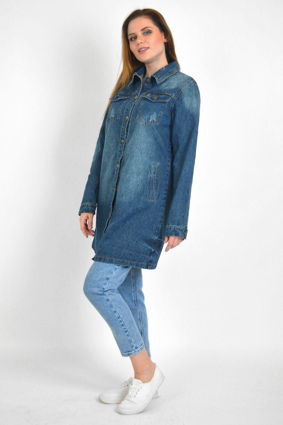 Рубашка женская Baccino 6099 джинсовая - фото 3