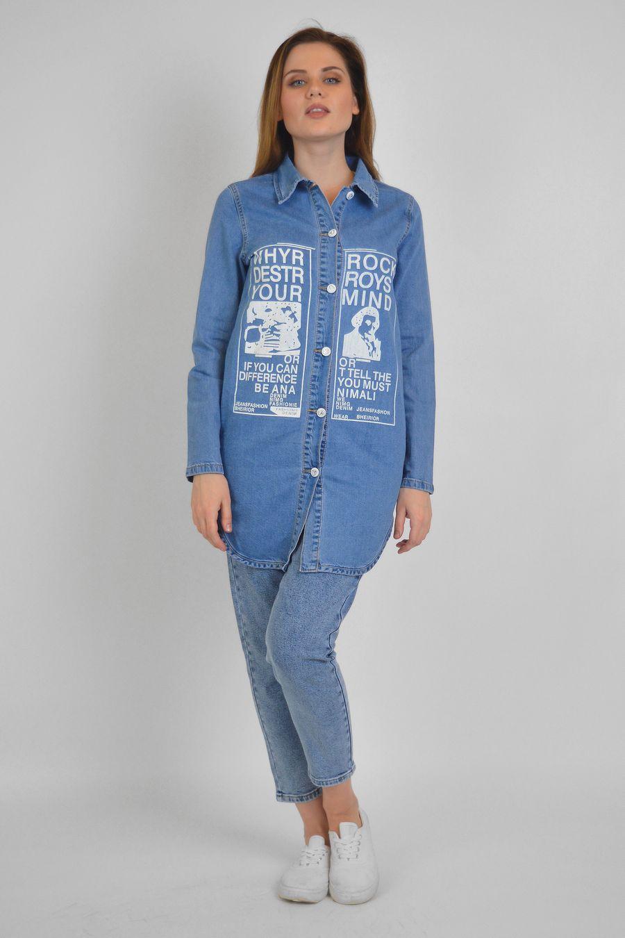 Рубашка женская Baccino 637 джинсовая - фото 1