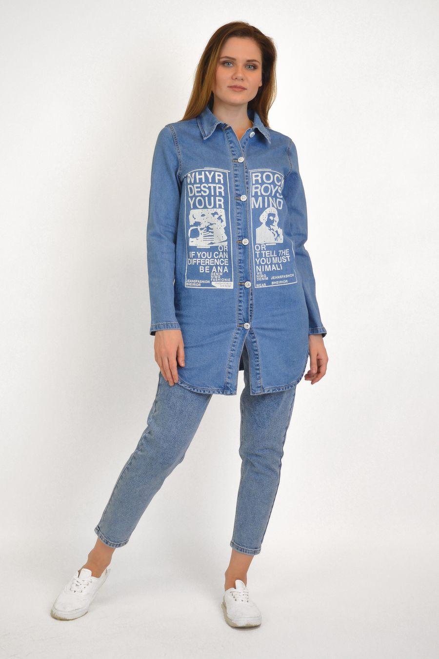 Рубашка женская Baccino 637 джинсовая - фото 2