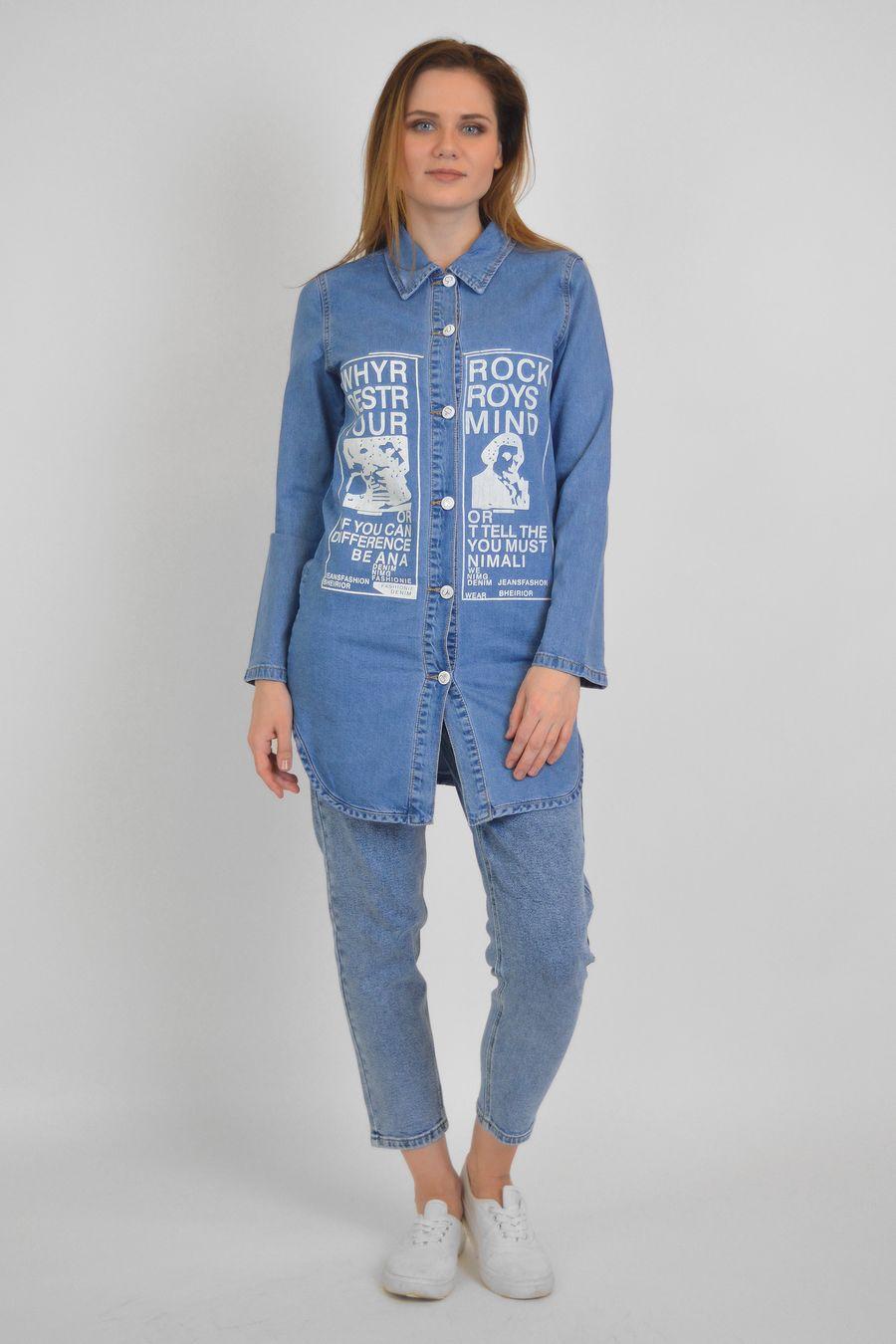 Рубашка женская Baccino 637 джинсовая - фото 3