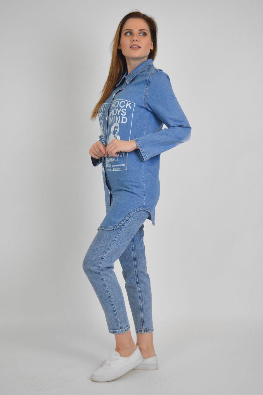 Рубашка женская Baccino 637 джинсовая - фото 4
