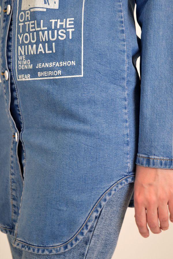 Рубашка женская Baccino 637 джинсовая - фото 6
