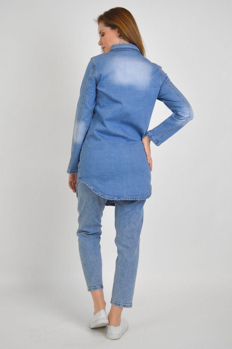 Рубашка женская Baccino 637 джинсовая - фото 5