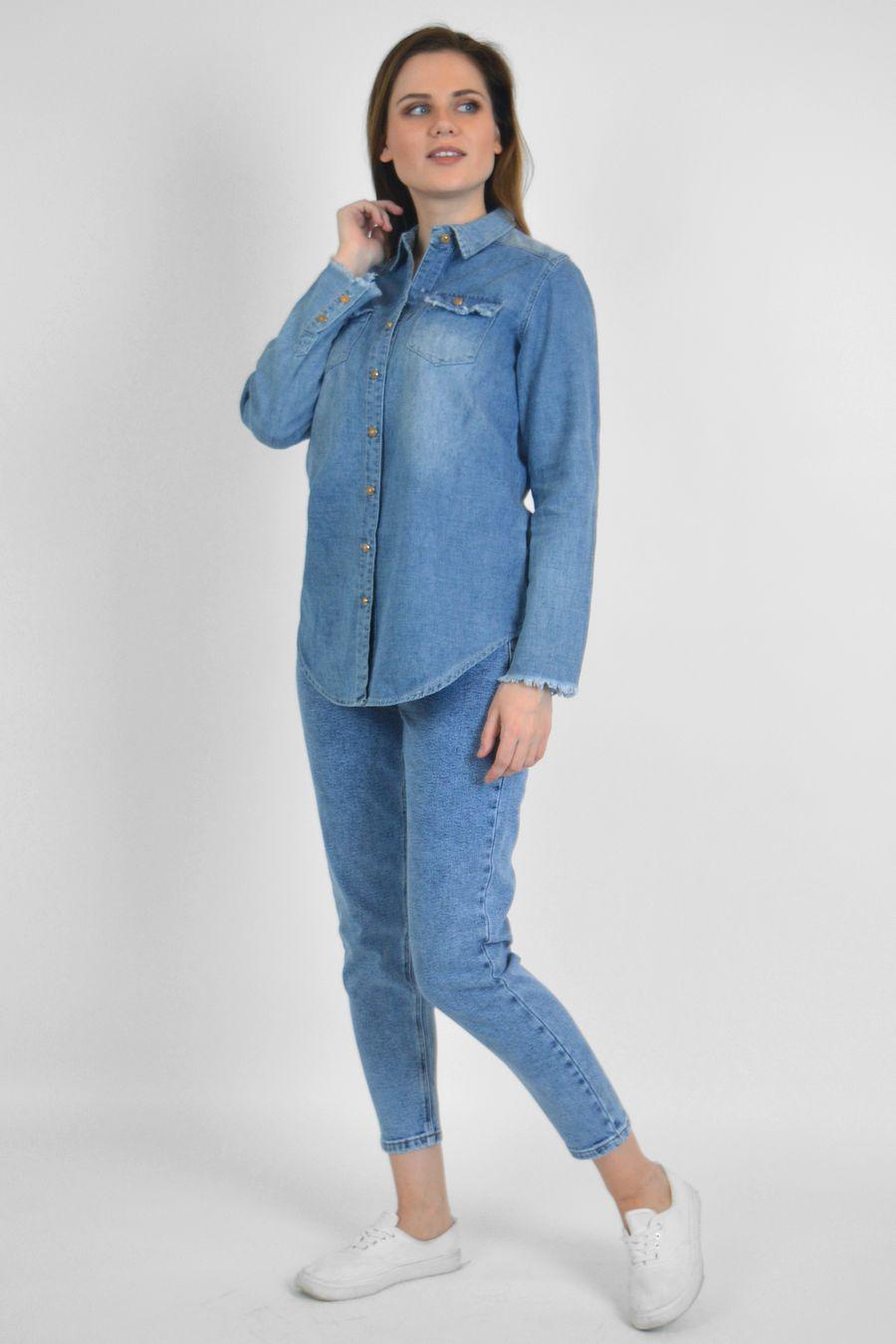 Рубашка женская Baccino 9662 джинсовая - фото 1