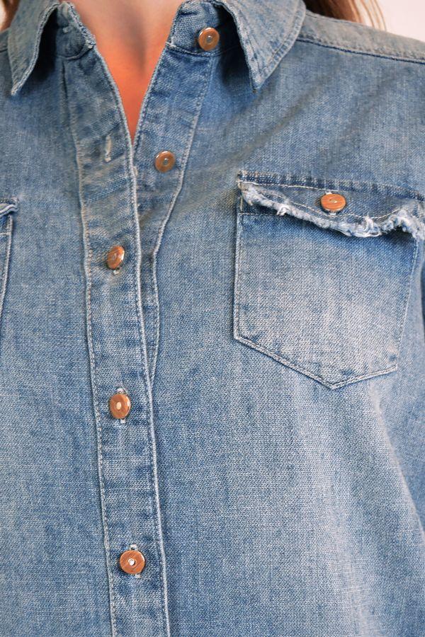 Рубашка женская Baccino 9662 джинсовая - фото 4