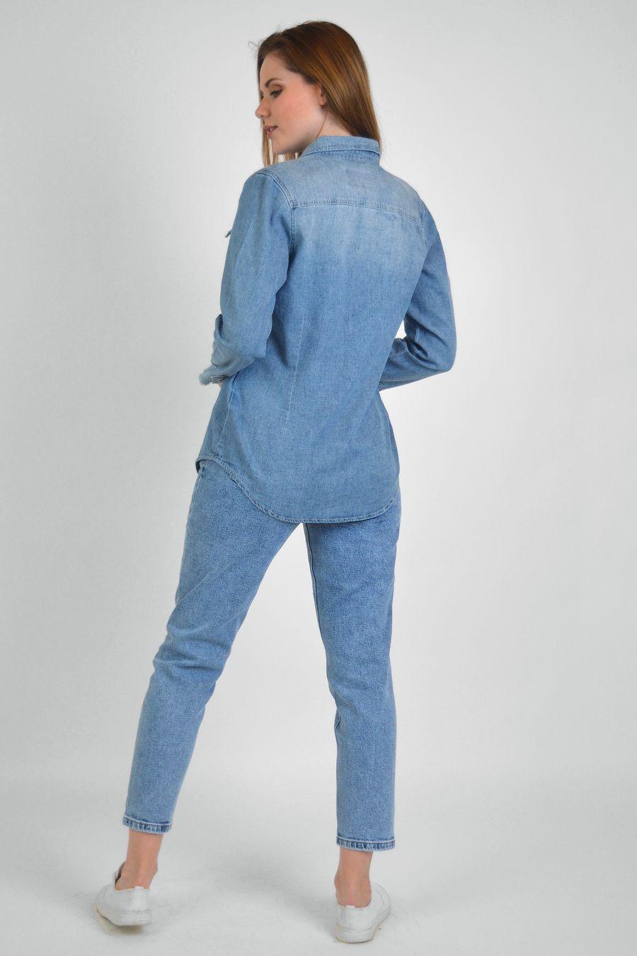 Рубашка женская Baccino 9662 джинсовая - фото 3