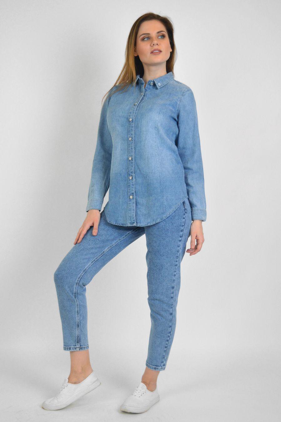 Рубашка женская Baccino 9677 джинсовая - фото 1