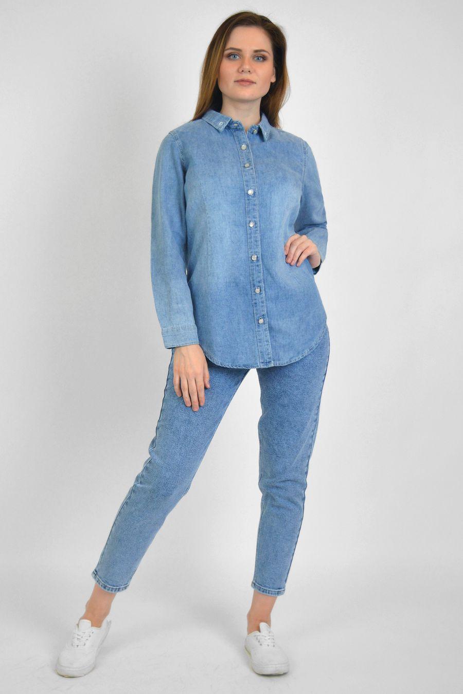 Рубашка женская Baccino 9677 джинсовая - фото 2