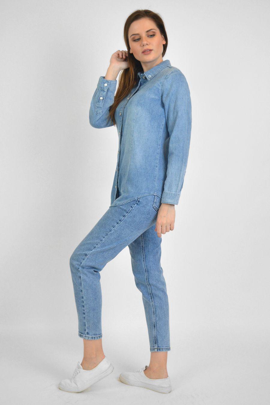Рубашка женская Baccino 9677 джинсовая - фото 3