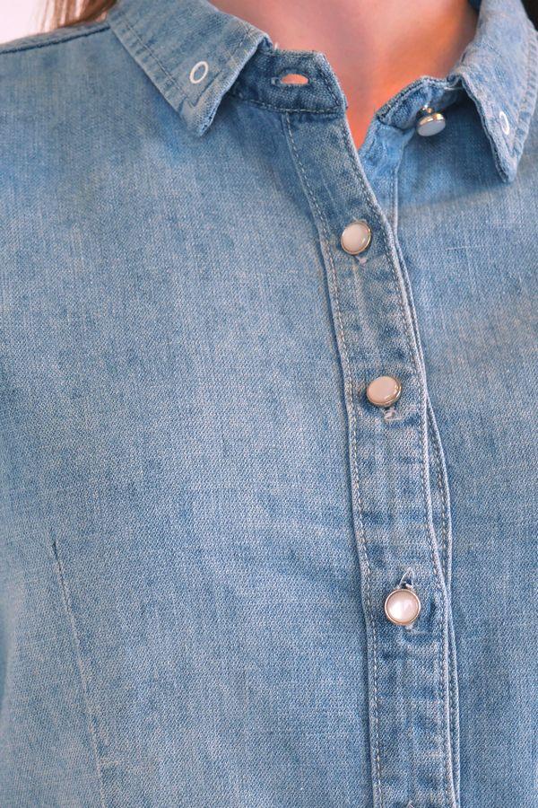 Рубашка женская Baccino 9677 джинсовая - фото 5